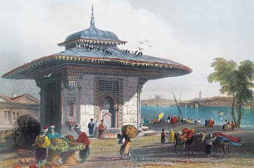 Fontána v Üsküdar, Istanbul, Turecko - 1