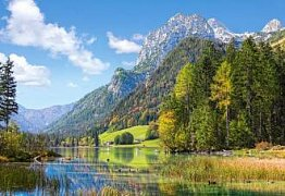 Horské útočiště v Alpách