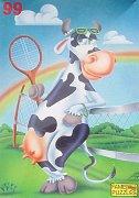 Kráva hraje tenis