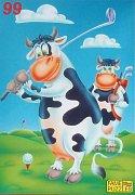 Kráva na golfu