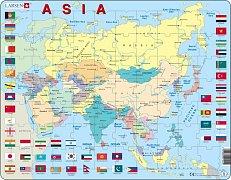 Mapa ASIE + vlajky