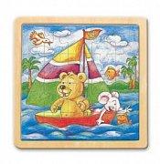 Medvídek na loďce