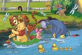 Medvídek Pú na řece