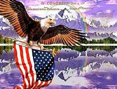 Orel s americkou vlajkou