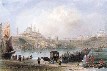 Plovoucí dřevěný most Istanbul, Turecko - 1