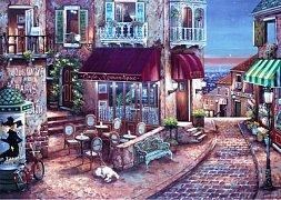Romantická kavárna v Paříži