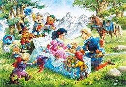 Sněhurka s princem a trpaslíkama