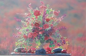 Váza s květinami