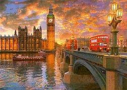 Západ slunce ve Westminsteru
