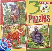 Zvířata z džungle (6, 9 a 13 dílků)