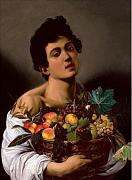 Chlapec s kočíkem ovoce