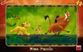 Lví král - na kládě