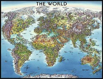Mapa světa 2000d - 1