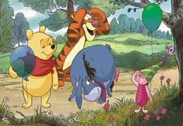 Medvídek Pů a balónky
