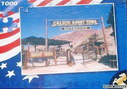 Město duchů Calico, San Bernardino County, Kalifornie, USA