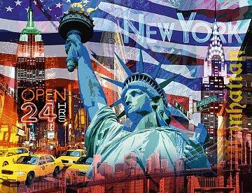 New York koláž 2000 dílků - 2