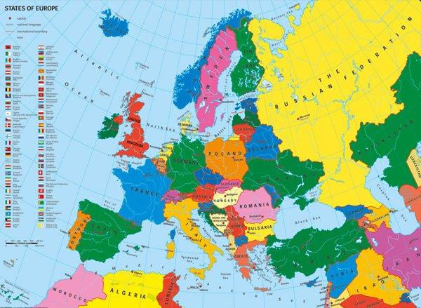 Politicka Mapa Evropy
