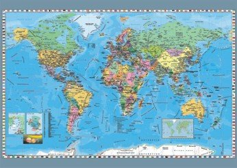 Politicka Mapa Sveta Puzzle Prodej Cz