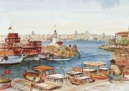Přístav Kiz Kulesi v Istanbulu, Turecko