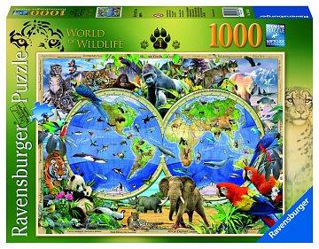 Svět divočiny; 1000 dílků - 1