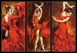 Tanečnice v červeném