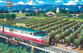 Vlak do Napa Valley