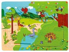 Zoo - vrstvené puzzle